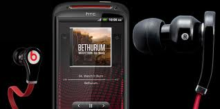 HTC Sensation XE with beats headphones