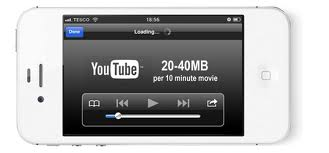 YouTube data usage iPhone 4S