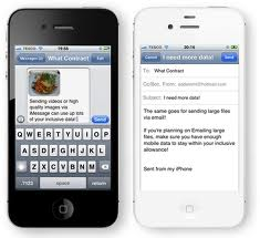 how much data does imessage use iPhone 4S UK