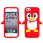 Red Happy Penguin Phone Cover